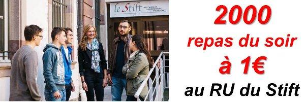 Repas étudiant à 1 euros à Strasbourg
